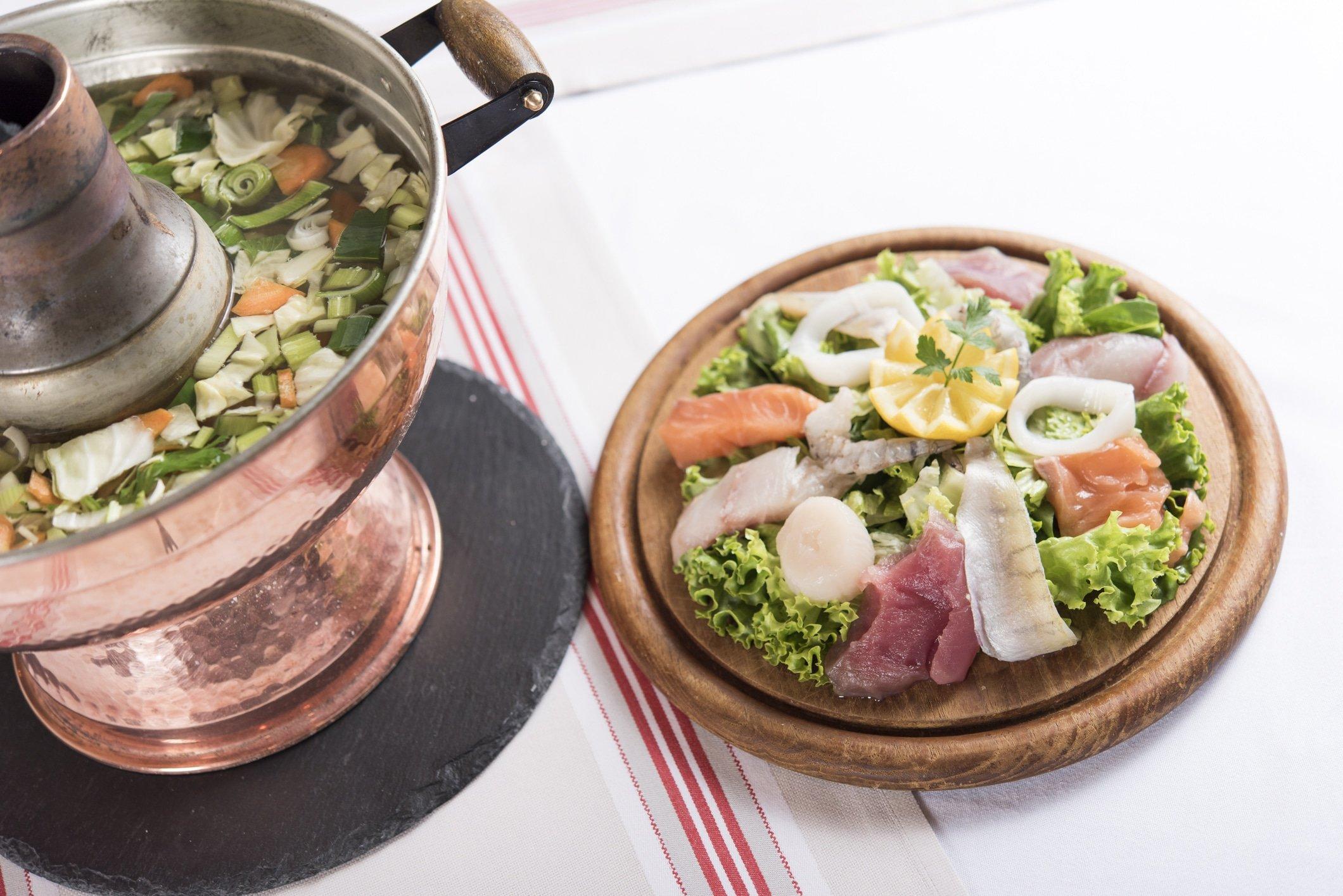 Restaurant le museum - Banquet Menu Marmite de poissons