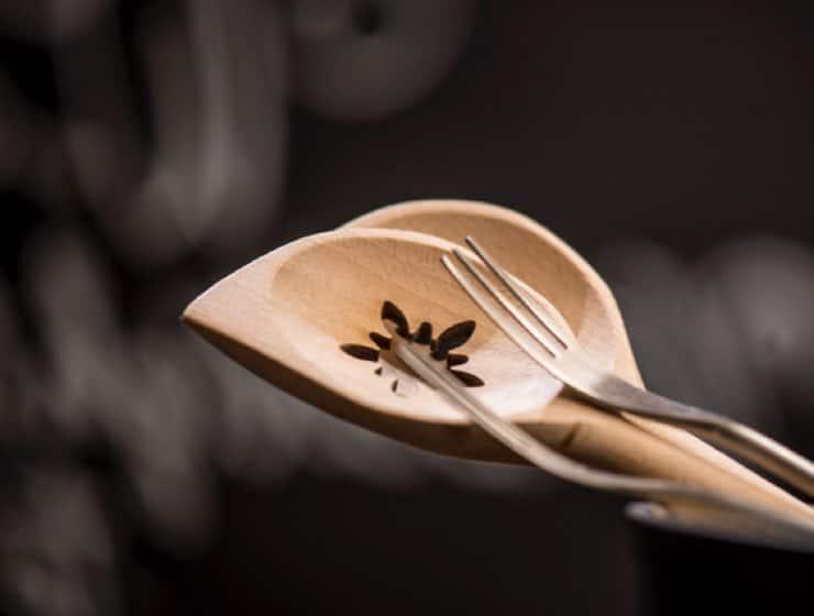 Restaurant le Museum - Montreux - couverts en bois