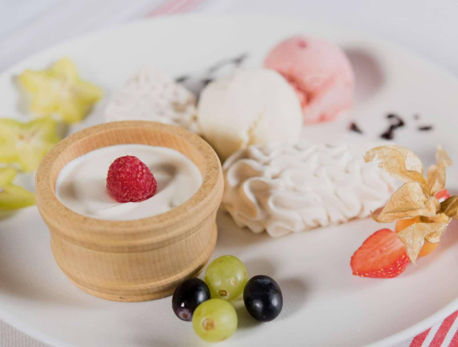 Restaurant le Museum Montreux La carte - Desserts à la crème glacée et sorbet