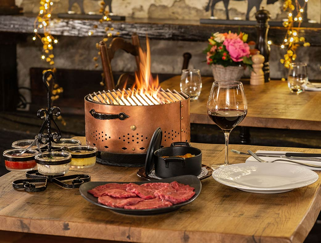 Restaurant le Museum Montreux - Steakhouse - Charbonnade